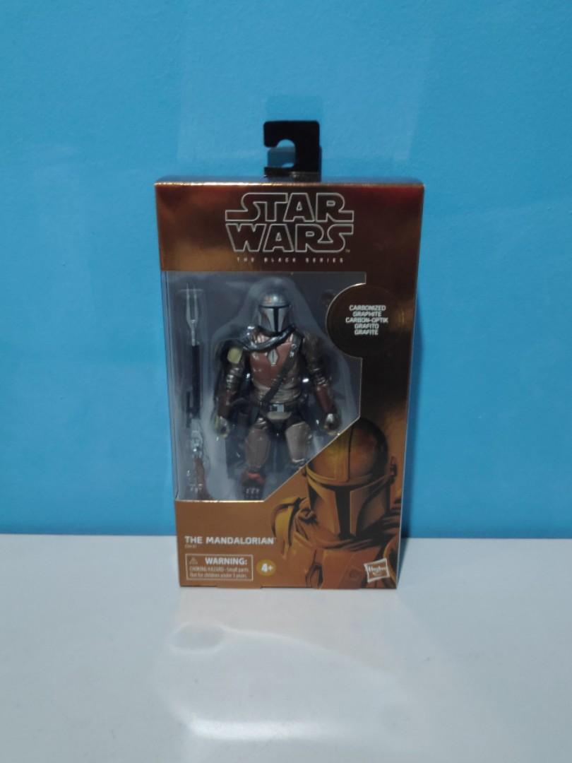 STAR WARS BLACK SERIES CARBONIZED MANDALORIAN BOX ONLY MINT TARGET EXCLUSIVE