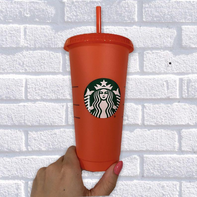 """Starbucks Colour-Changing Cup in """"Tomato"""" - NEW"""