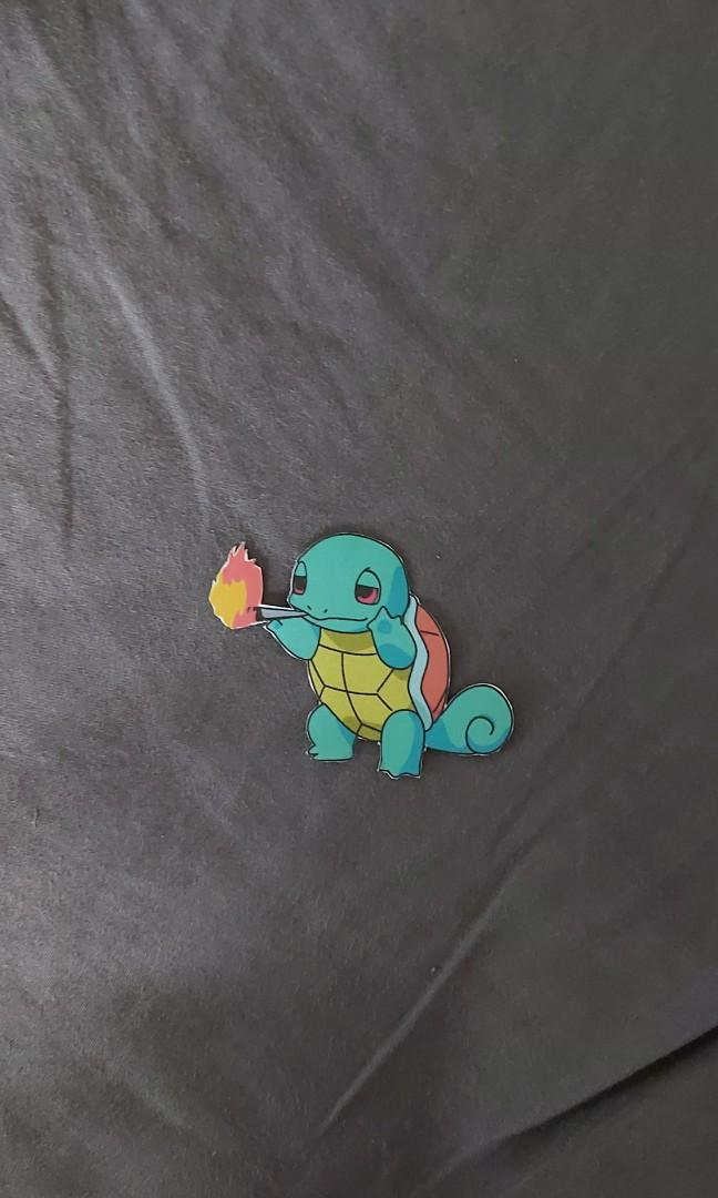 Sticker of Squirtle smoking