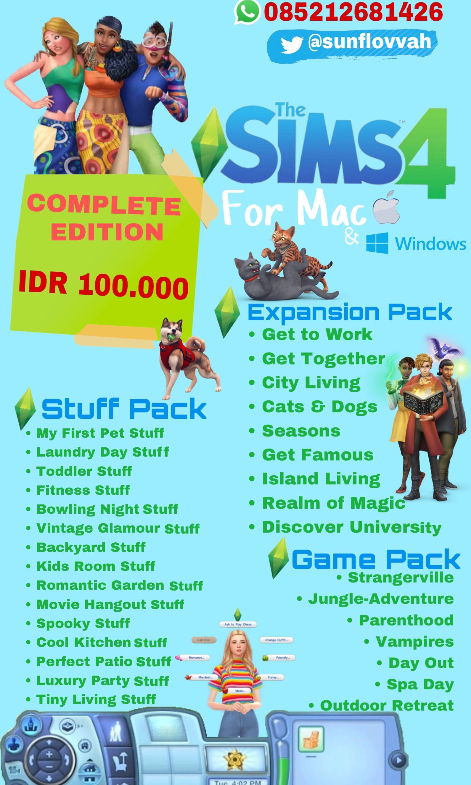 THE SIMS 4 COMPLETE EDITION FOR MAC & WINDOWS