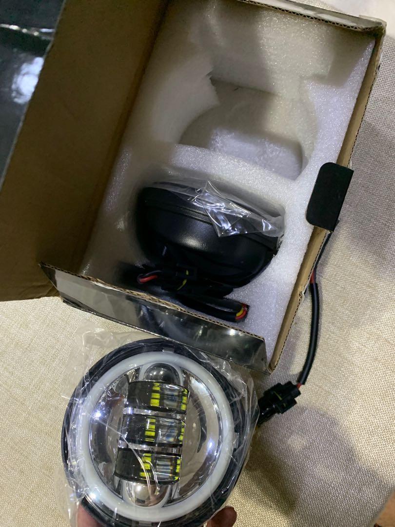 大燈 5.75吋 Led天使眼白光圈 手工車 擋車