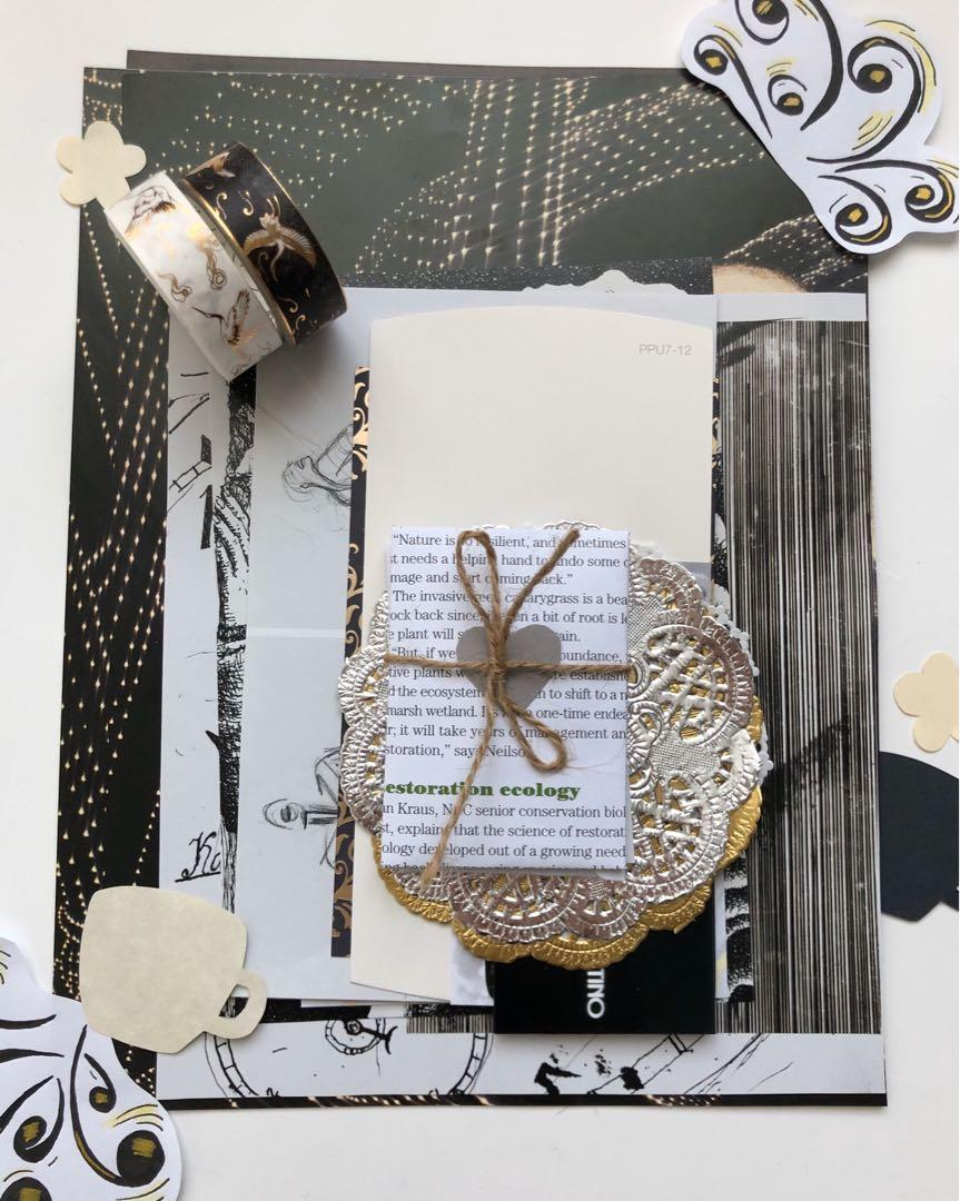 Black&White Ephemera Kit (Scrapbooking, Journaling, Snail Mail, etc)