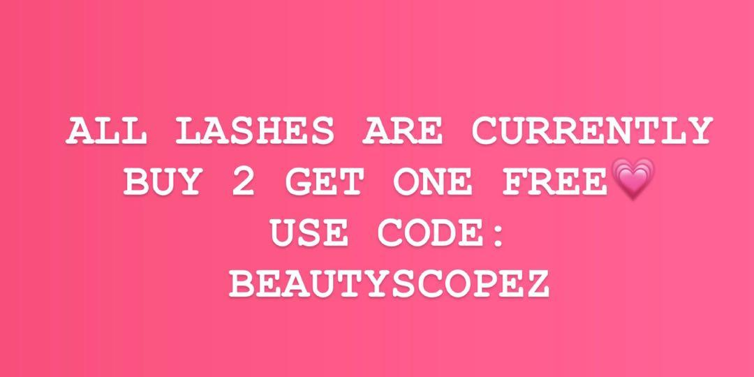 BUY 2 GET 1 FREE (MINK LASHES)