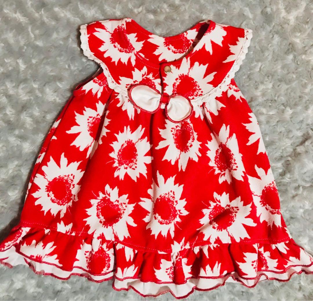Cute Red Dress for Baby Girl (size:7 years old)