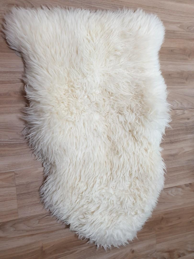 Ikea Ludde Rug White Cozy Fluffy And