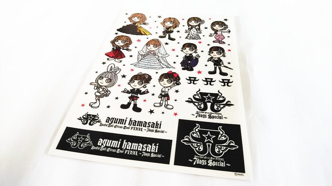 JAPAN SINGER-AYUMI HAMASAKI(滨崎步):ROCK N ROLL CIRCUS TOUR FINAL~7 DAYS SPECIAL-A4 size sticker(100% official original)