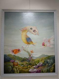 Lukisan Cat minyak 100 x 120 cm, 'Hunter'- karya Putu Edy Asmara