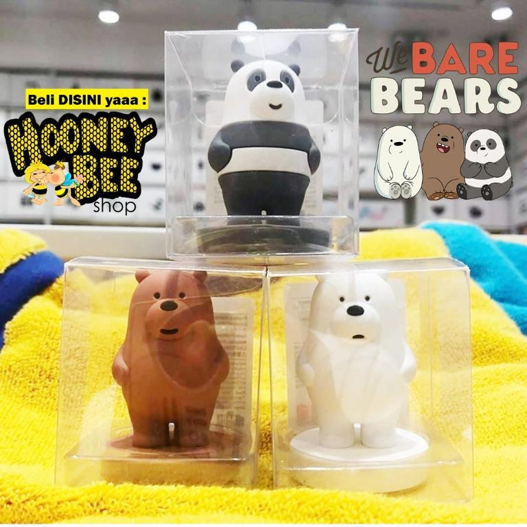 MINISO ORIGINAL - Hiasan We bare bears 3D ornament ICEBEAR PANDA GRIZZLY