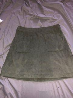 Olive Green Skirt    Size 4