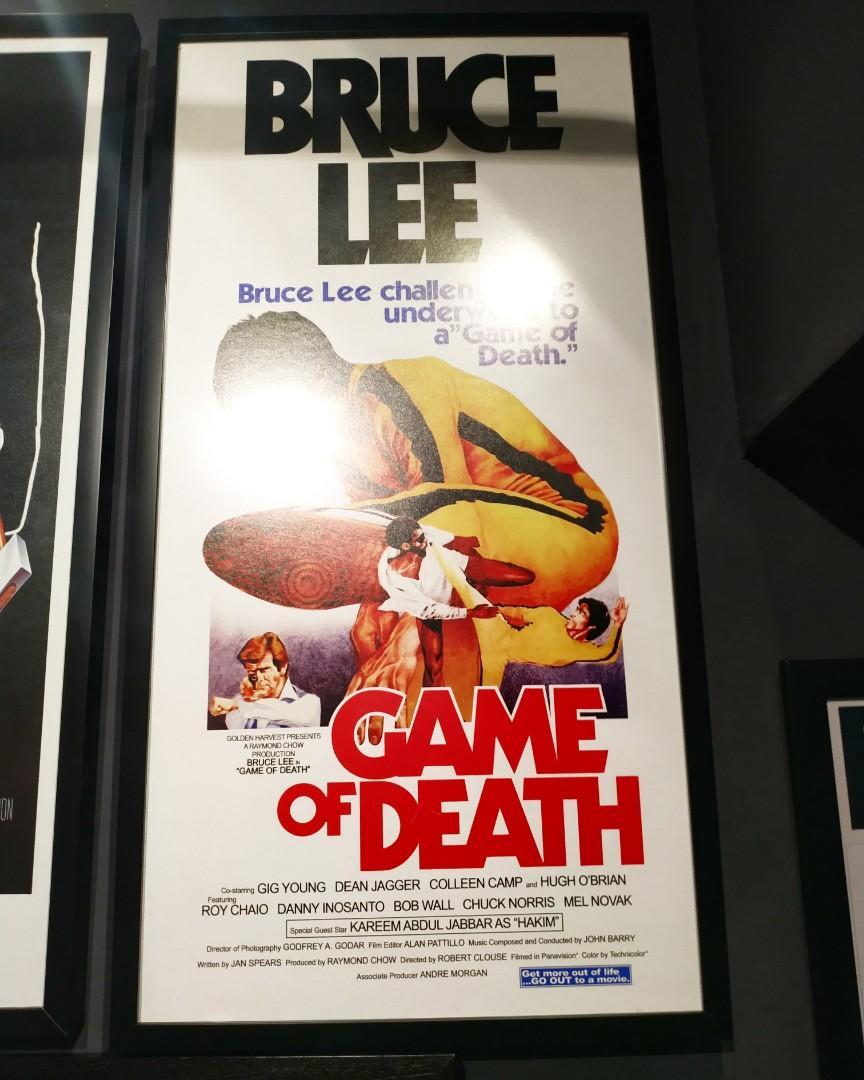 Poster Film Vintage Bruce Lee : GAME OF DEATH