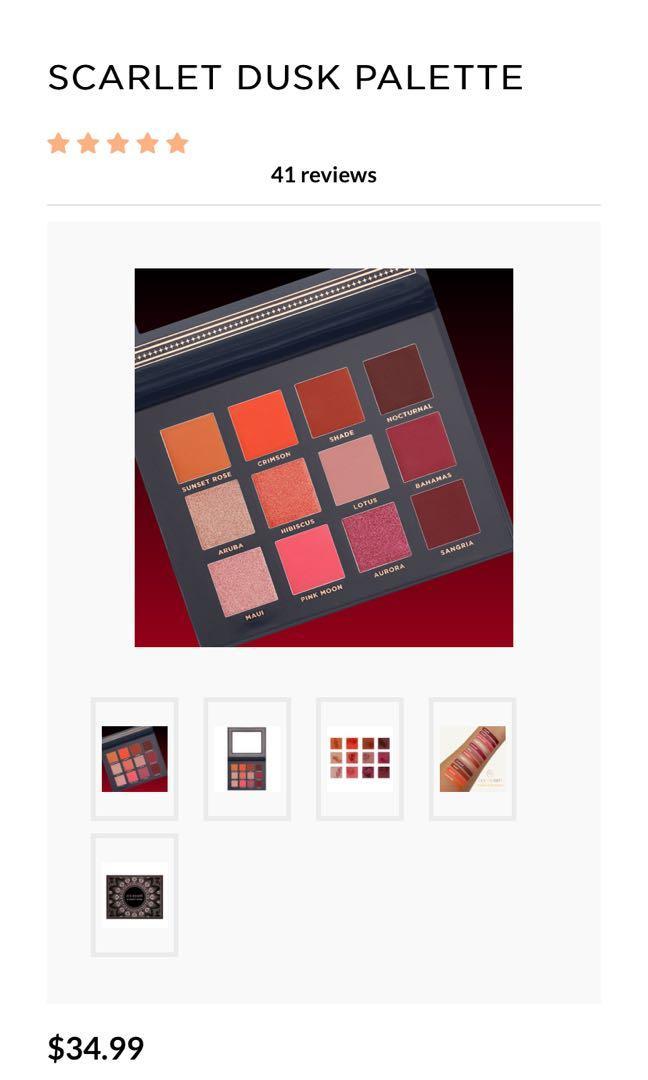 Scarlet Dusk palette by Ace Beauty