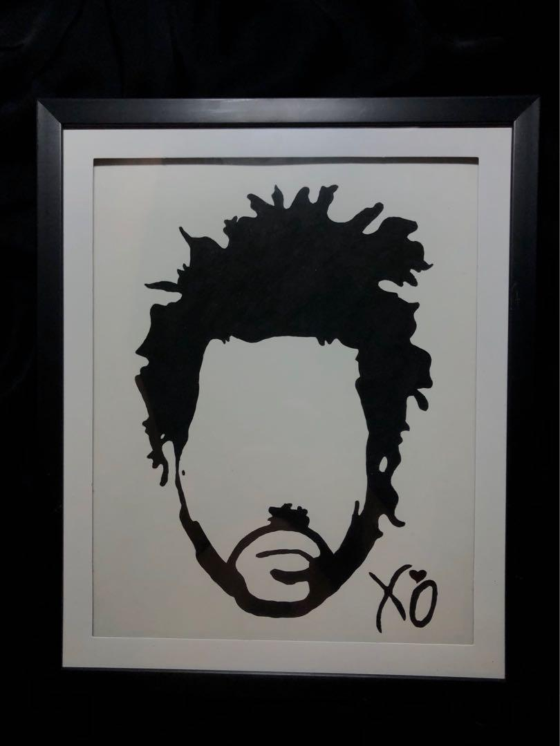 Framed The Weeknd XO Painting