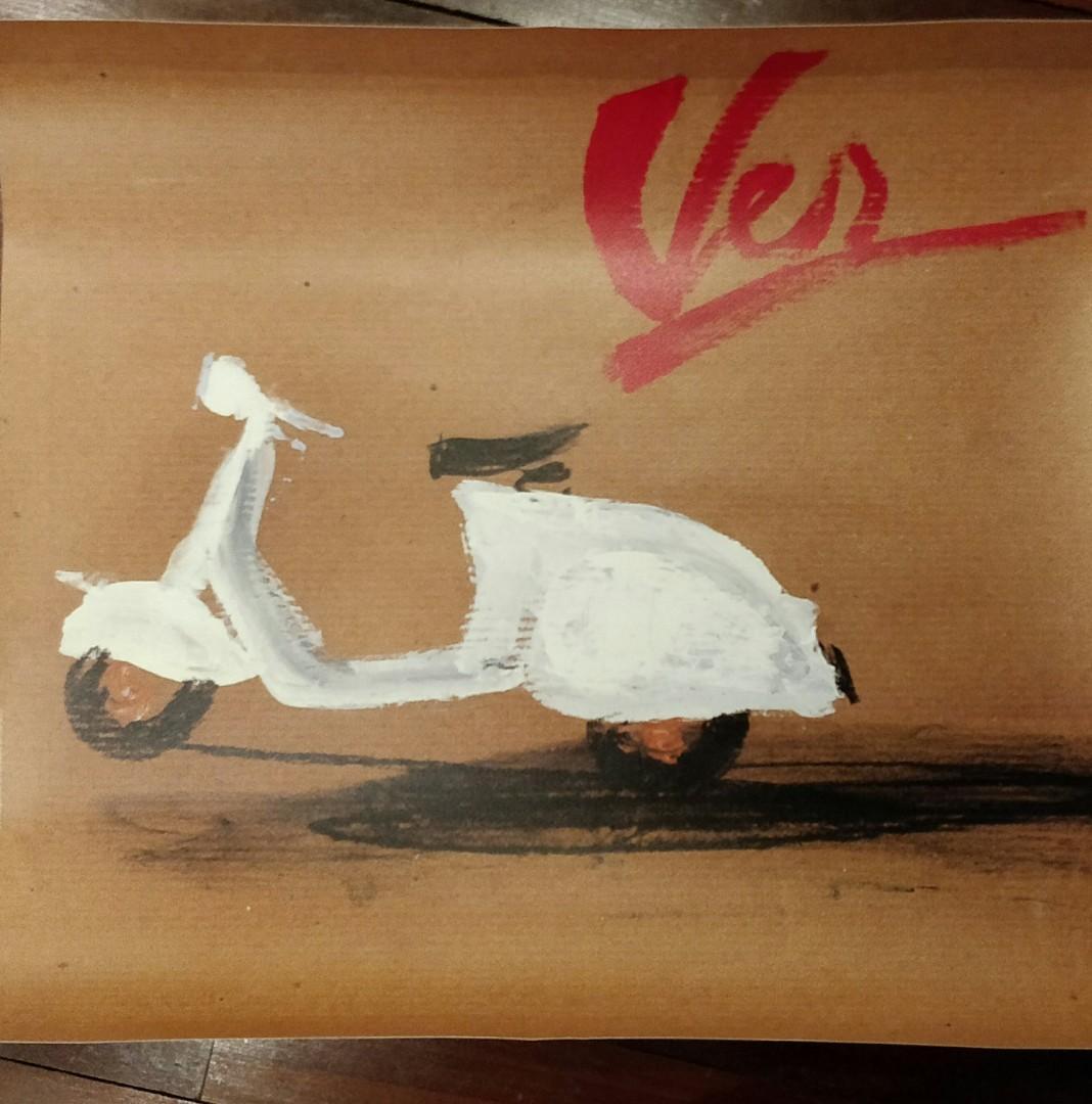 Vespa Summer Vintage Poster Picture Design Craft Art Prints On Carousell