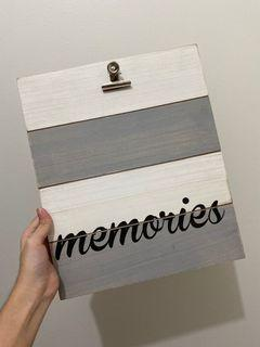 Wooden Clipboard with Design