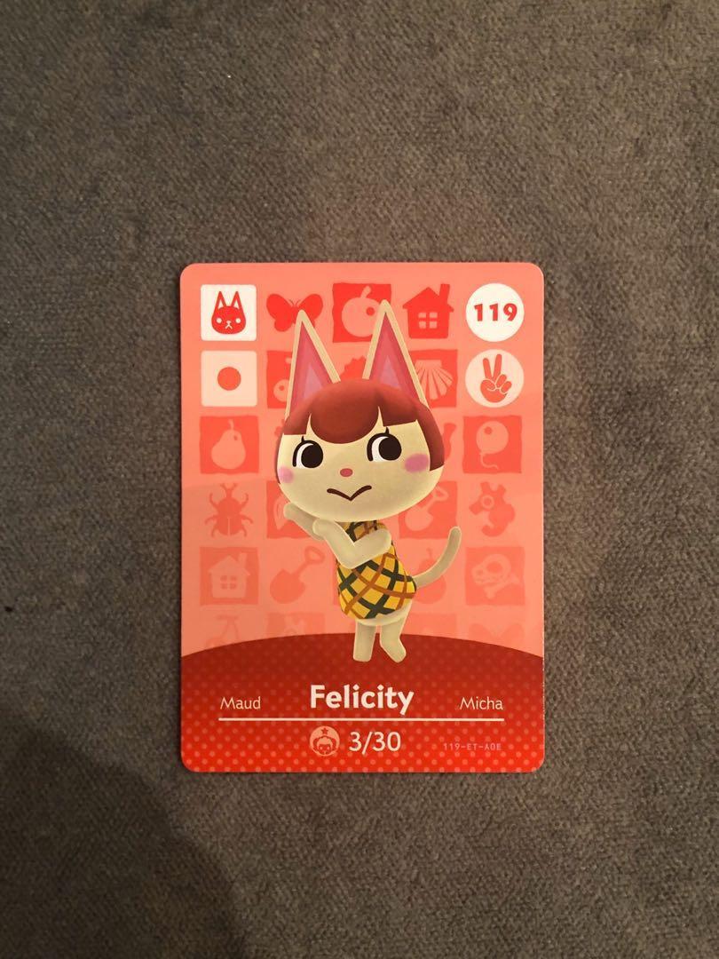 [當天發貨][現貨][動物森友會 ]全新  未掃過官方正版 美版 amiibo卡  Felicity美佳119