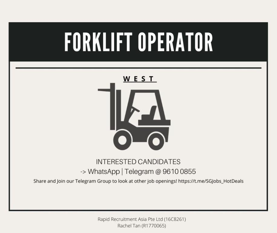 🚧 FORKLIFT OPERATORS @ WEST - ($10/hr)