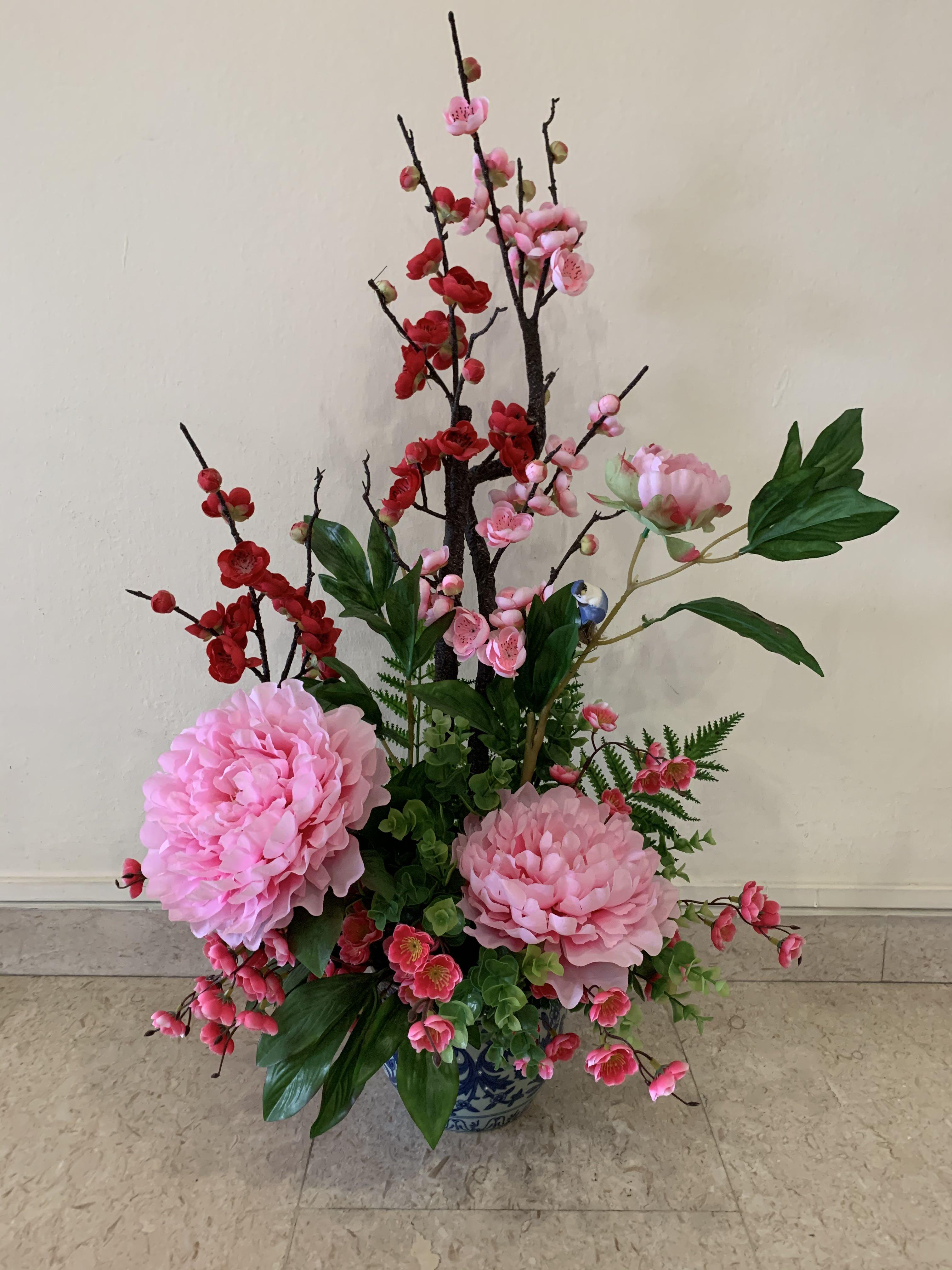 Artificial Flower Arrangement Peonies Gardening Flowers Bouquets On Carousell