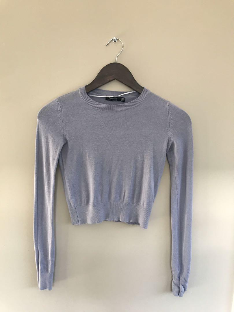 Bershka Blue Knit Top