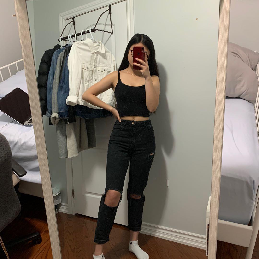 Black Zara Mom Jeans
