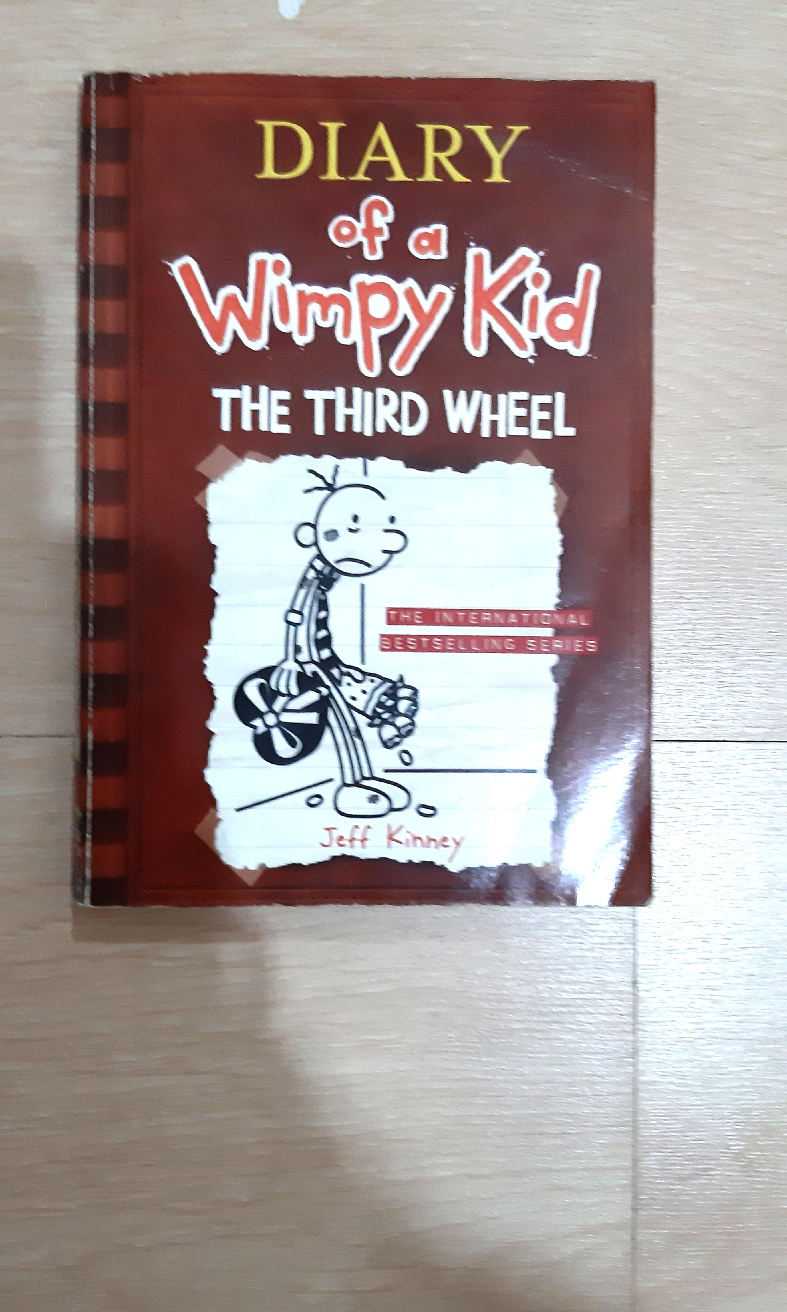 Diary Of A Wimpy Kid The Third Wheel By Jeff Kinney Soft Cover Books Children S Books On Carousell