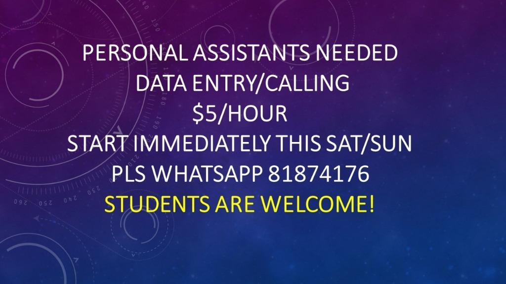 Good voice cum data entry personal assistants