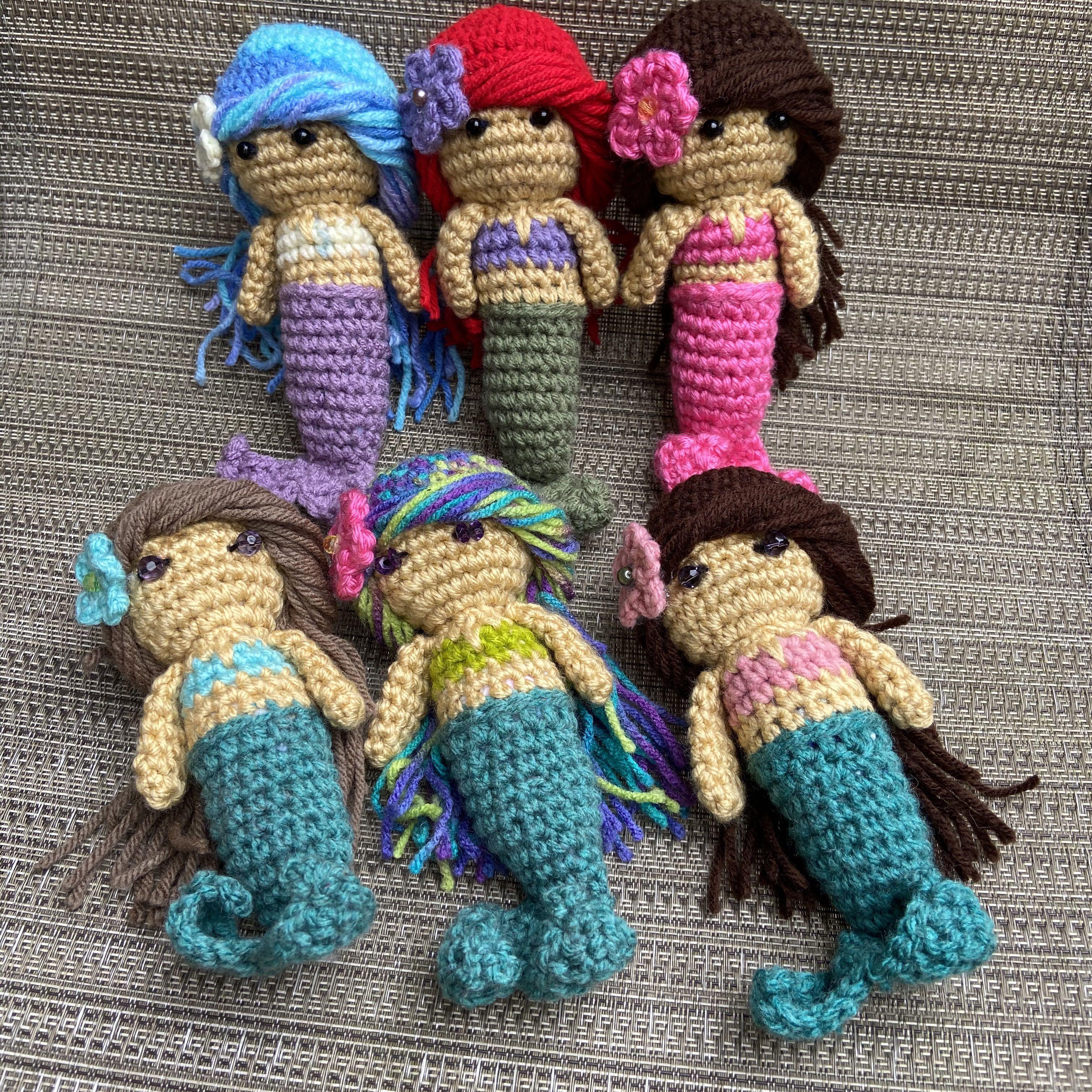 Handmade Crochet Mermaid dolls