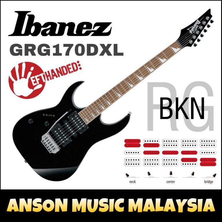 Ibanez Gio GRG170DXL-BKN Lefthand Black Night
