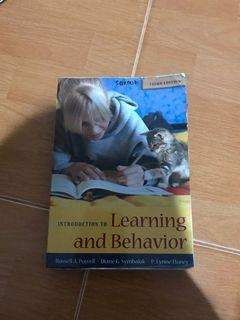 Introduction to Learning and Behavior 3th ed. by Powell, Symbaluk, & Honey