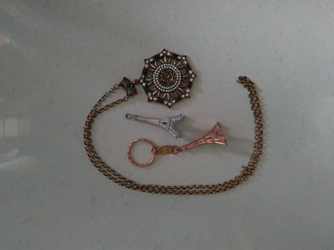 kalung turki + gantungan eiffel
