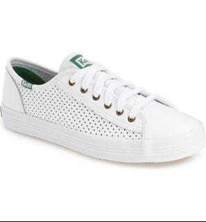KEDS KICKSTART Perforated Leather Sneakers in White
