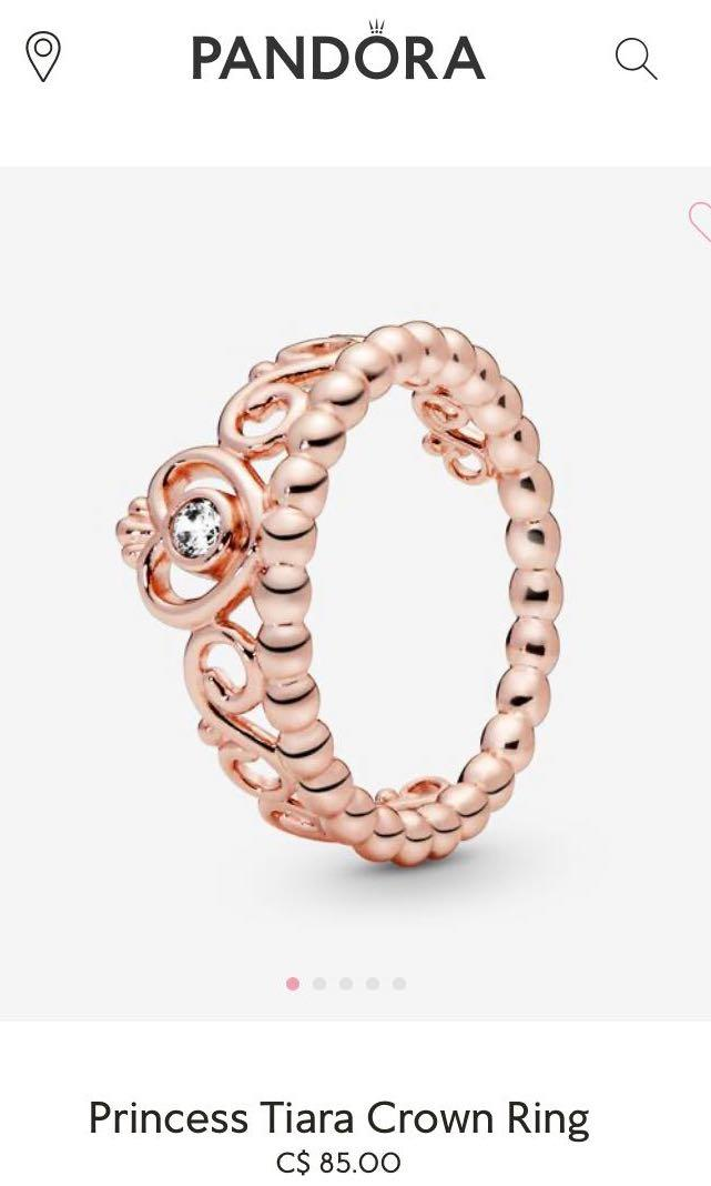 Pandora Princess Ring rose gold