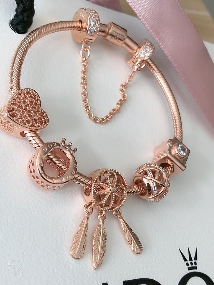 Pandora Rose Gold Bracelet Set