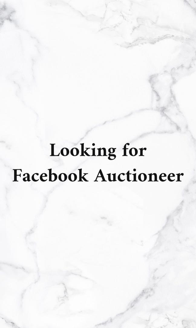 Part Time Facebook Auctioneer