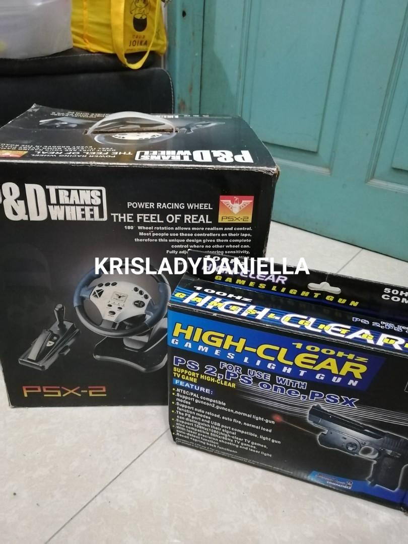 PS 2 Steering Wheel Emulator + Game Light Gun