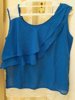 Sheer tops blue