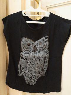 #bersih2021 Silver owl black tops atasan