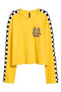 Yellow H&M Long Sleeve