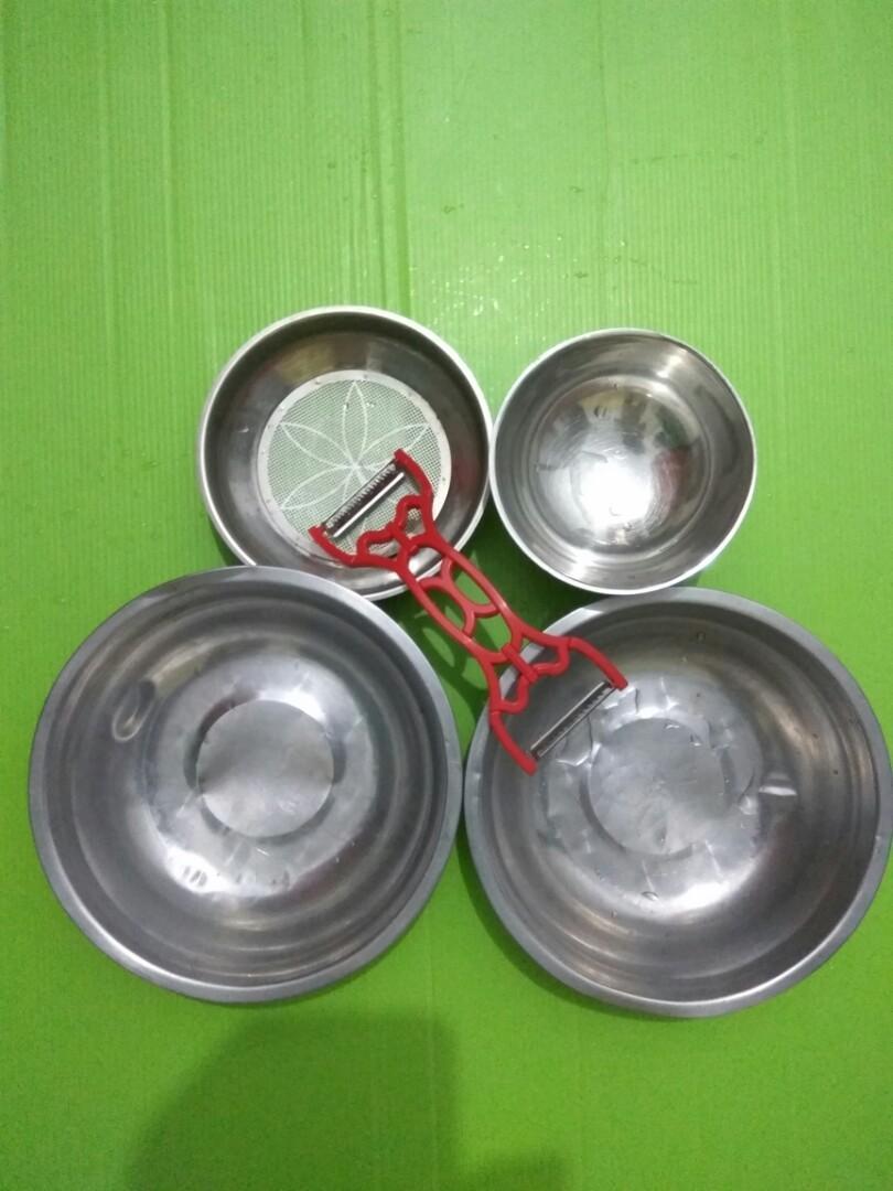 3個小碗+過濾網+?絲器(購物滿400元➡免費送)#新開始