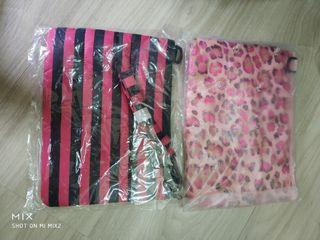 粉紅豹紋,黑紅條紋側包包#新開始