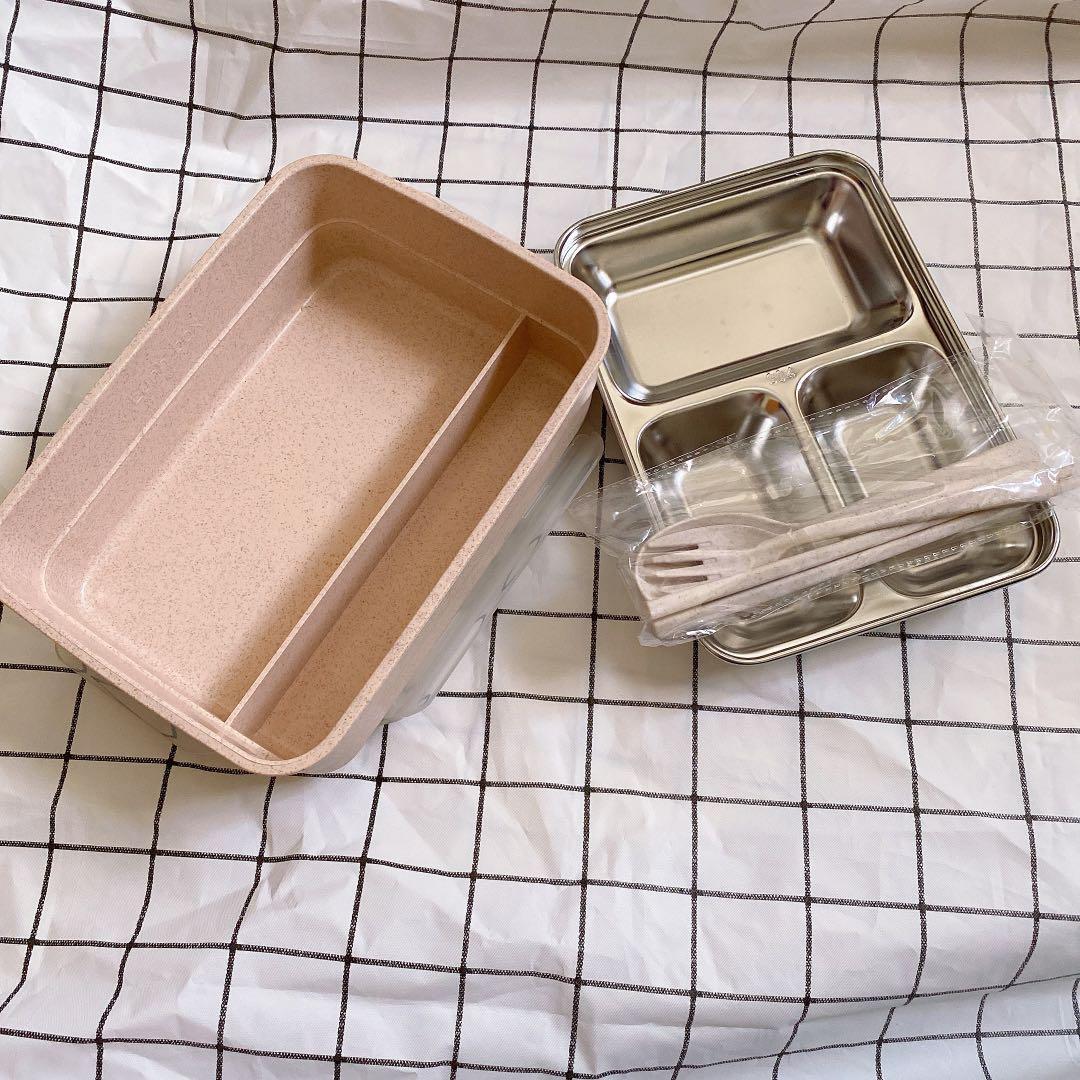 便利的餐盒 大理石粉