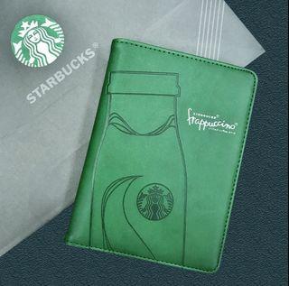 星巴克 星冰樂 旅遊手札護照套(綠色)