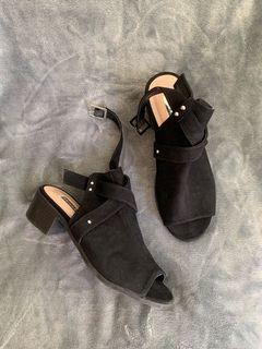 Black Sandals - 5-5.5