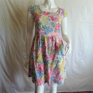 Cath Kidston 2019 FLORAL WATERCOLOR PATTERNED DRESS like Kate Spade