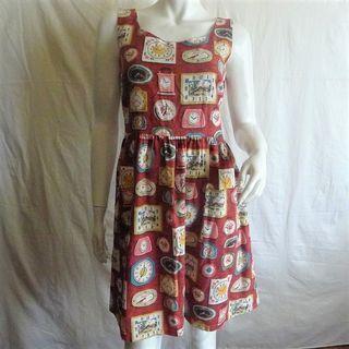 Cath Kidston CLOCKS Print Sleeveless Cotton Jaquard Dress