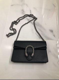 Gucci Super Mini Dionysus Leather Shoulder Bag - Authentic