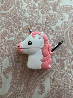 Pink Unicorn Airpods Case