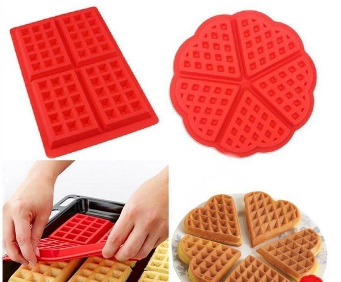 Silicone Waffle Moulds Mold Maker Microwave Baking Cookie Cake Bakeware Tools Everything Else On Carousell