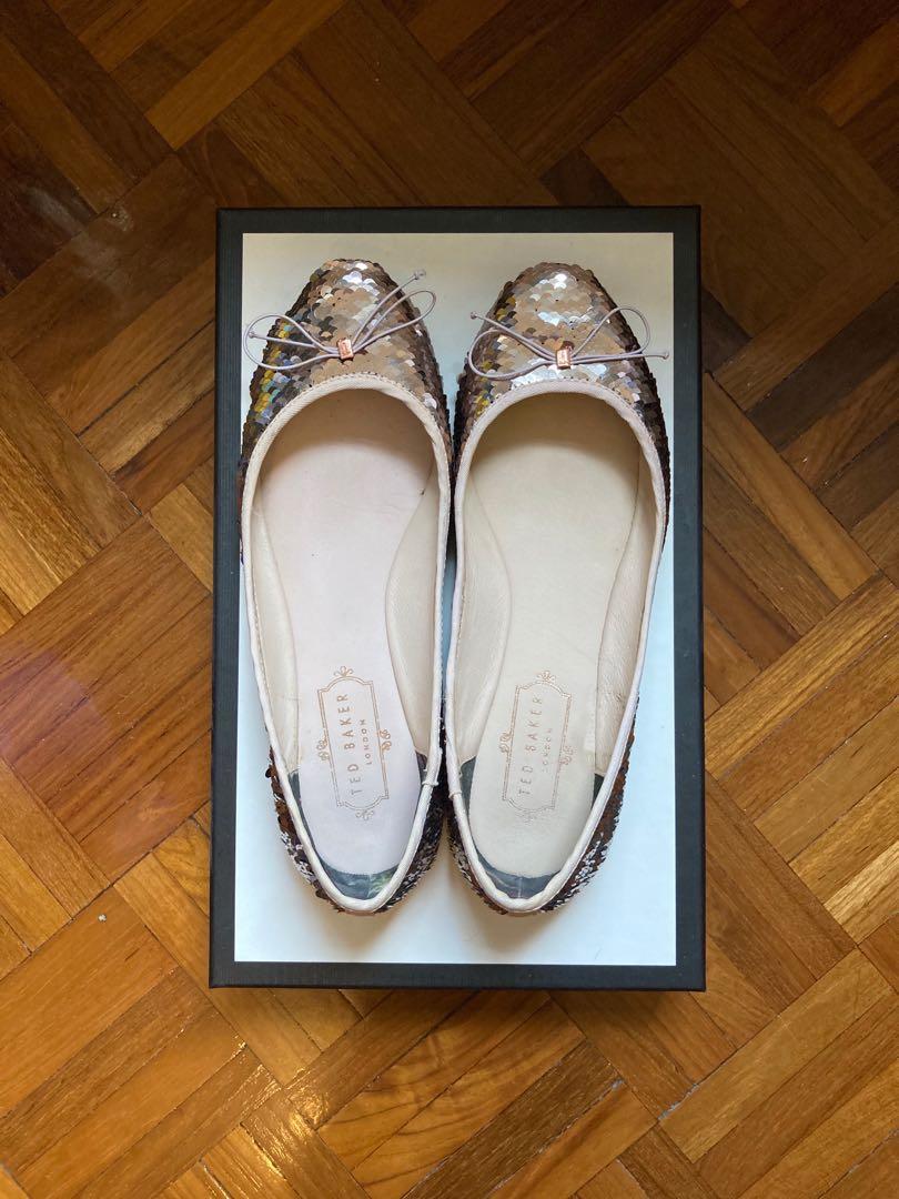 Size 36] Ted Baker 粉紅色珠片平底鞋Pink