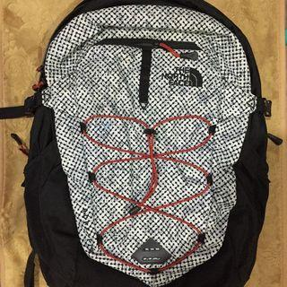 The North Face Borealis Backpack, Tnf Black Elliptic Print/Pompeian Red, One Size
