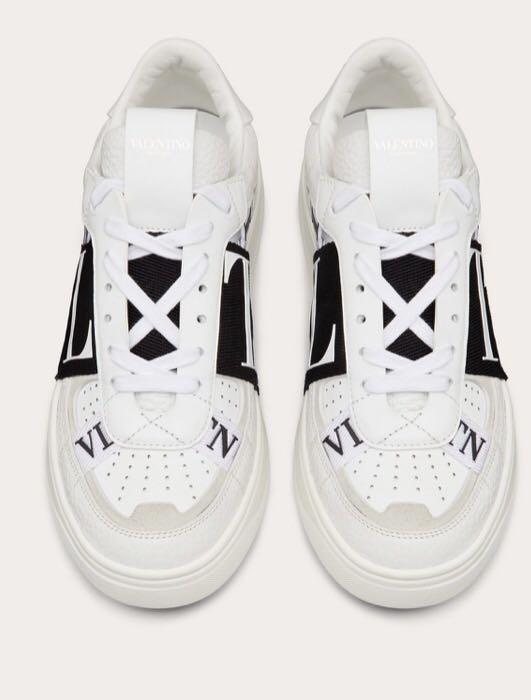 VALENTINO VL7N Leather Sneakers With Bands